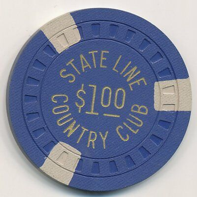 Stateline Country Club Lake Tahoe 5th Issue $1 Chip 1953