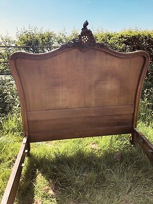 French oak double Bed ,beautiful quality vintage carved Louis XV,