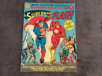 Limited Collectors Edition Superman Vs The Flash 1976 Large Format Dc Comics