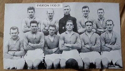 1962  Everton 1930/1931 - Famous Teams In Football History 2nd Series