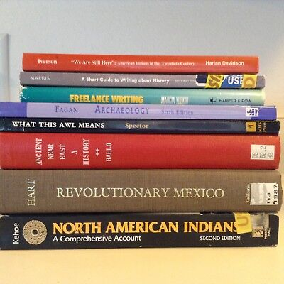 Lot of 8 Books: Archaeology, Native Americans, Revolutionary Mexico, Writing