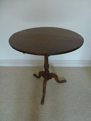 Large Round Antique Mahogany Fold Up Side Table