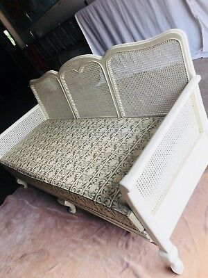 Antique Cane Shabby Chic Style Couch Excellent Condition
