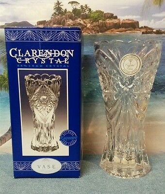Shannon Original Sticker Crystal Flower Vase By Godinger 24 Lead