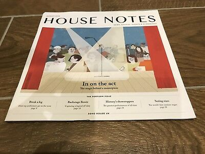 House Notes. Soho House. August 2018 Edition