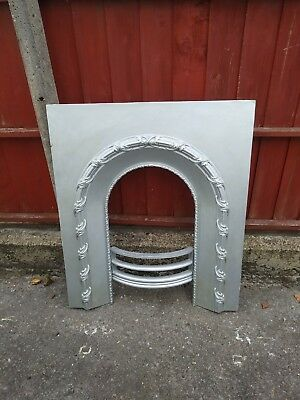 Antique vintage cast iron fireplace / fire surround