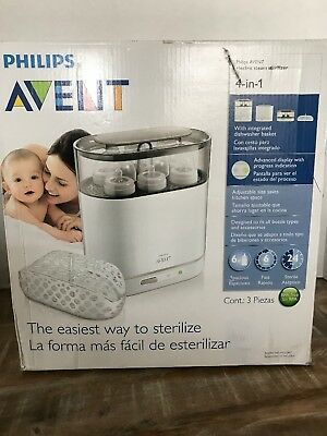 Philips AVENT BPA Free Baby Bottle 4-in-1 Electric Steam Sterilizer