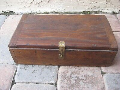 Vintage - Antique Homemade Wood Box / Dovetail Corners