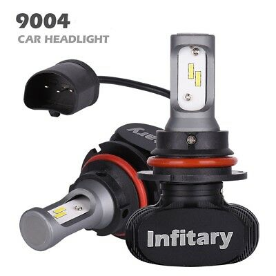 Pair 9004 50W 8000LM Super Bright LED Car Headlight Bulbs Fog Lamps 6500k