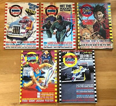 5 Issues Of Computer And Video Games Magazines C&vg Sep-Dec 1987 Retro Gamer Vgc