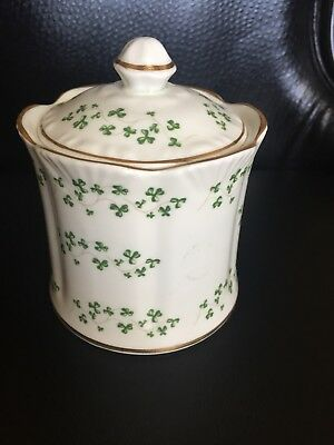 Royal Tara Bone China Covered Bowl, Container, With Shamrocks, Galway Ireland