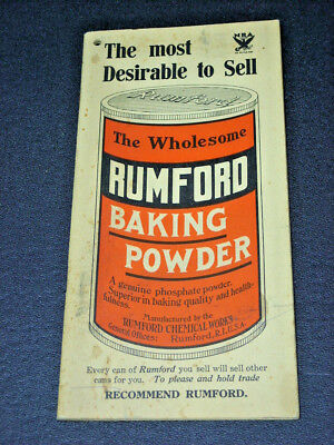 Old Booklet ~ 1964 RUMFORD BAKING POWDER~ Rumford Chemical Works, Rumford, R.I.