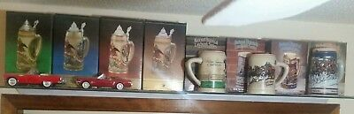 Assorted Anheuser Busch Steins