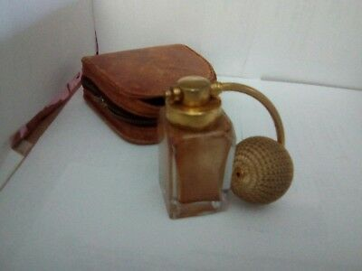 VINTAGE DEVILBISS NO S500-150  GLASS PERFUME ATOMIZER label and case