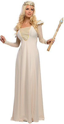DELUXE GLINDA Costume Dress Gown Tiara Witch Oz Great Powerful Adult Large 14 16