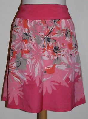 81082b823 The Limited Peach Print Above the Knee Skirt Lined Sheer Overlay Size S  Small