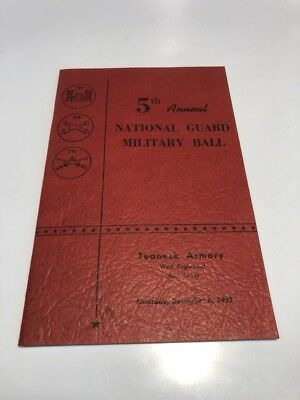 5th 1952 National Guard Military Ball Teaneck Armory West Englewood NJ Program