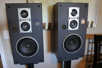 *Very Rare* '81~'83  Sony 3 Way SS-U460 Speakers Made in USA - B+ Condition