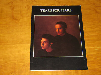 Tears For Fears - 1985 Songs From The Big Chair Tour Programme         (Promo)