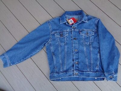 Levi S Vtg Trucker Blue Denim Jacket Red Tab Ages 10 12 Size M Youth