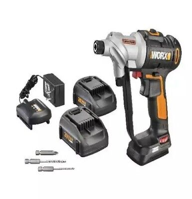 WX176L.5 WORX 20V Switchdriver Cordless Drill & Driver (2) Batteries Included
