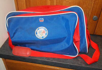 Vintage Levi Strauss Olympics 1984 USA Large Duffel Gym Bag Red White Blue Red