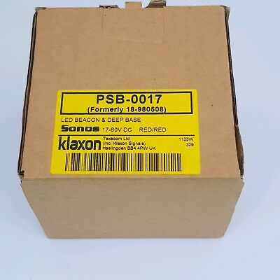 Klaxon Sonos Red LED Beacon Deep Base PSB-0017