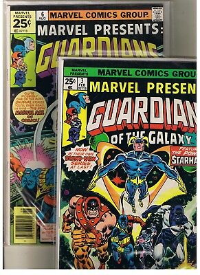 Marvel Presents (1975) #2,#3,#6 Guardians of the Galaxy Bronze Age Marvel