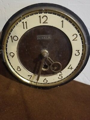 ANTIQUE WOOD CLOCK by Peter Messner. Works but needs work....
