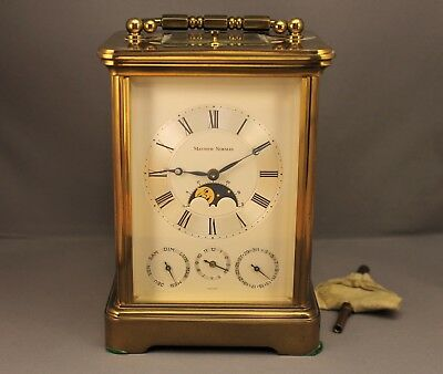 Matthew Norman 8-Day Calendar Moonphase Repeating Carriage Clock Mod. 1781 AS-IS
