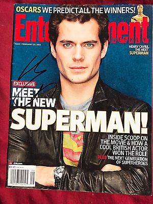Henry Cavill Signed Entertainment Weekly Magazine In Person Autograph
