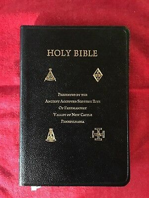 Holy Bible KJV Presented by The Ancient Accepted Scottish Rite Of Freemasonry