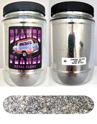 1lb Blakes Metal Flake .015 Chrom Silber Hot Rod Custom Automotive