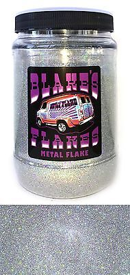 1lb Blakes Metal Flake .008 Alpha Silber Prismatische Hot Rod Custom Automotive
