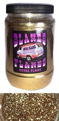1lb Blakes Metal Flake .015 Sahara Gold Hot Rod Custom Automotive