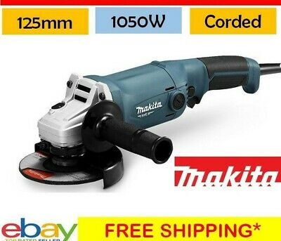 """Powerful Angle Grinder Makita 125mm (5"""") Corded 1050W Grinding Tool Garage Shed"""