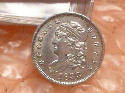 1833 Capped Bust Silver Half Dime Very High Grade #1