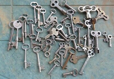 51 Assorted Antique Keys  Padlock Keys  Lock Keys Cabinet Keys Furniture Keys