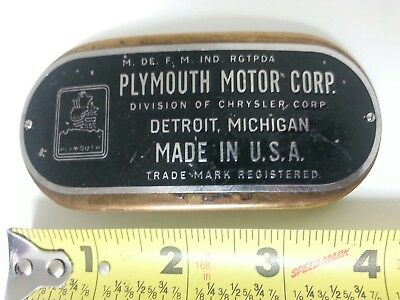 PLYMOUTH MOTOR CORP Belt Buckle Rare HTF Vintage Collectible