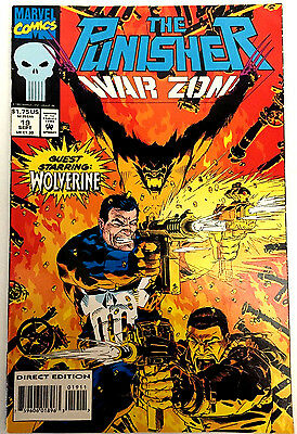 The Punisher: War Zone #19 (Sep 1993, Marvel) Wolverine - 9.4 NM Near Mint comic
