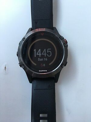 Garmin Fenix 5 Black Sapphire Multisport GPS Watch 47mm Case Black Band