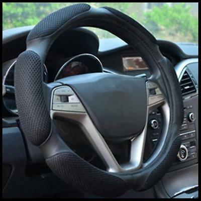 Luxury Auto Car Steering Wheel Cover Carbon  with PU Leather Car Cover Supply