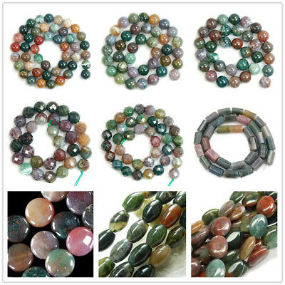 Wholesale Natural Smooth Multicolor Agate Onyx Gemstone Loose Beads 15""