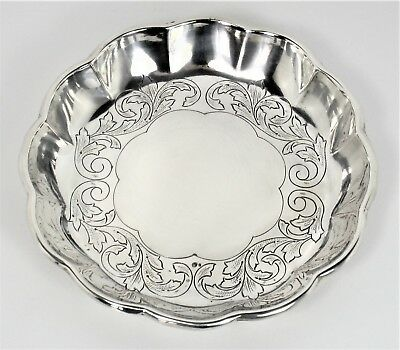 Bowl engraved very beautiful solid silver