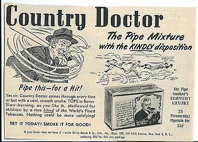 Vintage Phillip Morris & Co. Country Doctor Tobacco Print Ad 1949
