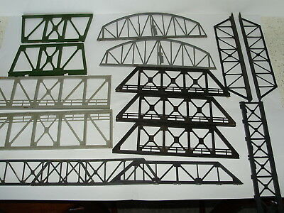 Assortment of bridge side sections. Possibly incomplete.HO/OO. In good used cond