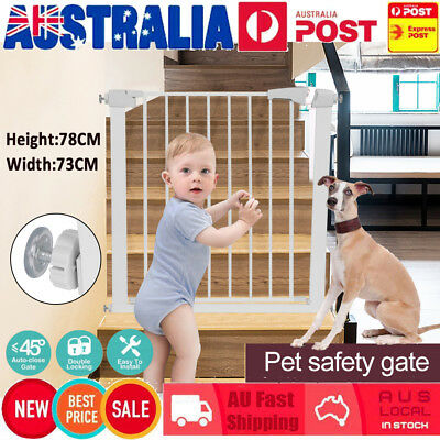 78CM Height Adjustable Baby Pet Child Safety Security Gate Stair Barrier adjust