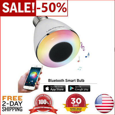 NEW LIGHTSTORY Remote Control Bluetooth Smart LED Light Bulb Lamp with Speaker