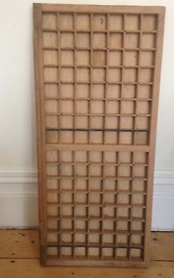 Vintage old wooden printers draw drawer / tray 37 X 82.5 cm