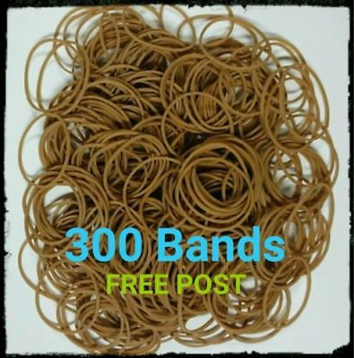 ~ 300 Rubber Bands 100g Strong Elastic Home Office Brown Size No.16 1.5mm x 60mm